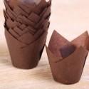 Tulip muffin cups brown MINI