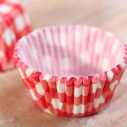 Mini cupcake cups rood ruitje