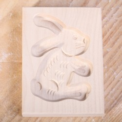 Cookie mold Bunny maple wood