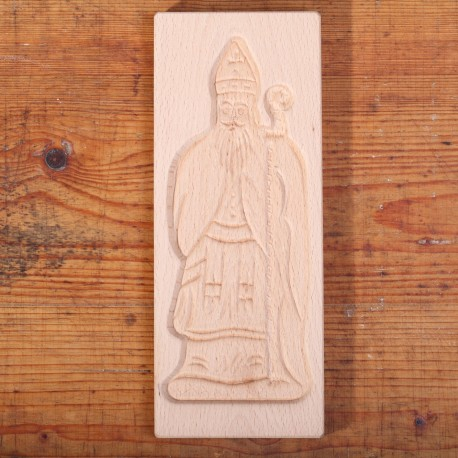 Wooden cookie mold St. Nicolas