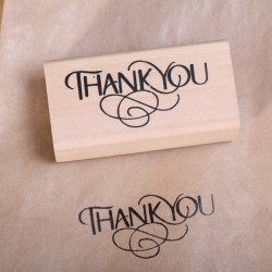 Wooden stamp  Thank You
