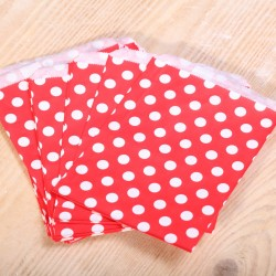 Red and white dot paper gift bags