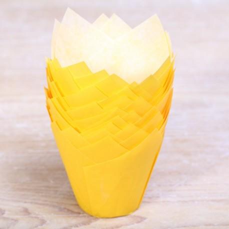 Tulip muffin cups Yellow