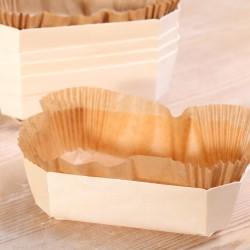Houten bakvorm 500g met inlegvel van bakpapier