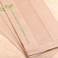 Recycled  paper bread bags - large