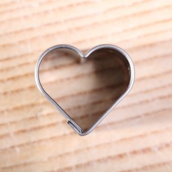 Koekjes uitsteekvorm - Hartje mini - 2 cm