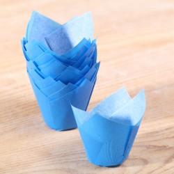 MINI Tulip muffin cups blue