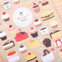 Thema decoratie stickers: Taart