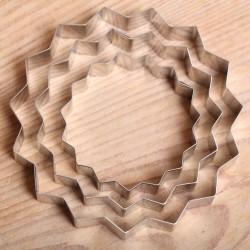 Uitstekerset 3 rvs ringen met kartelrand