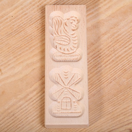 Wooden cookie mold Double Dutch