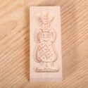 Cookie mold Woman costume small beech wood 10.5 cm