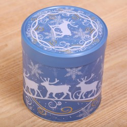 Tin Reindeer blue & white