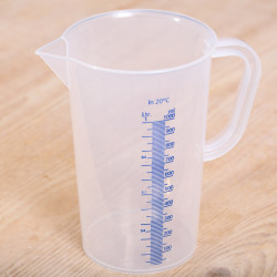 Measuring jug 1 liter plastic transparent