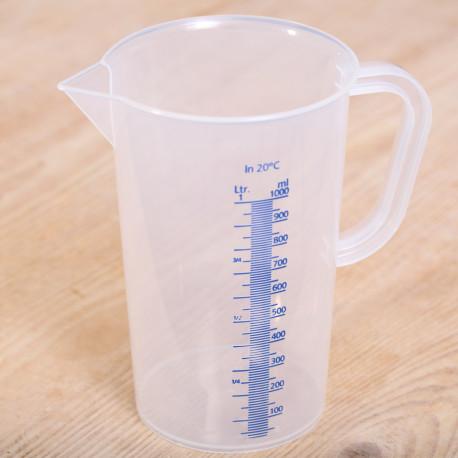 Measuring jug 1 liter plastic transparent
