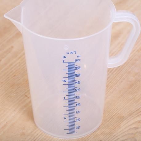 Maatbeker 2 liter kunsttof transparant