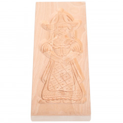 Cookie mold Girl from Volendam beech wood 32 cm