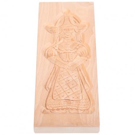 Cookie mold Girl from Volendam beech wood 32 cm