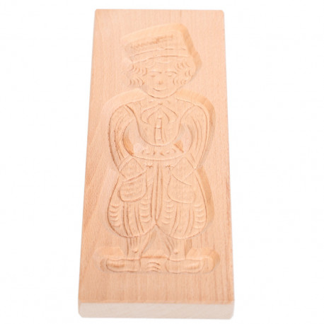 Cookie mold Boy from Volendam beech wood 32 cm