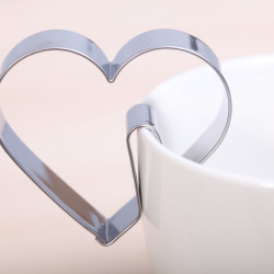 Cookie cutter - Heart hang on cup