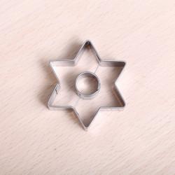 Koekjes uitsteekvormpje -  Kleine ster met gat