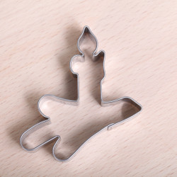 Cookie cutter Christmas tree candle