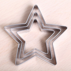 Cookie cutter set - 3 Star set