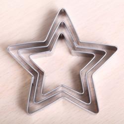 Uitsteekset -  Set van 3 sterren (5-puntig)