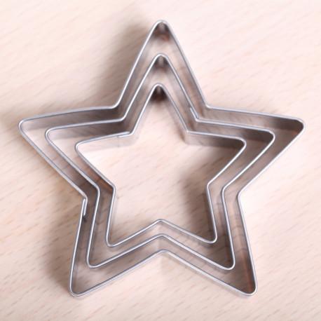 Cookie cutter set - 3 Star set