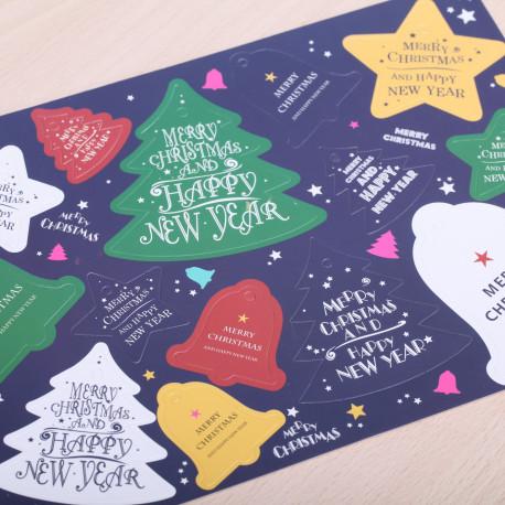Merry Christmas gift tags color
