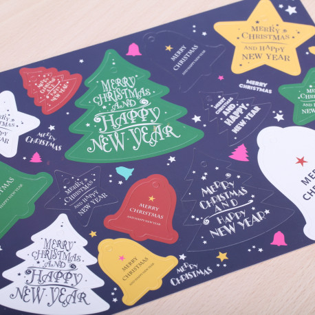 Merry Christmas  kado labels kleur