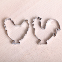 Cookie cutter set - Rooster & Hen