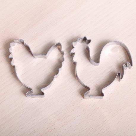 Cookie cutter set - Rooster & Hen