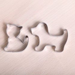 Cookie cutter set - Puppy & Kitten