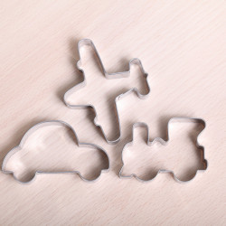 Cookie cutter set - Train, plane, automobile