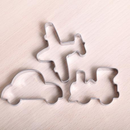 Cookie cutter set - Train, plane, automobile