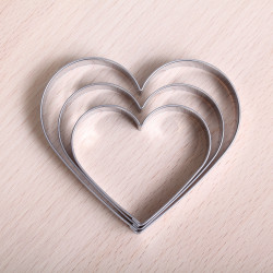 Cookie cutter set - 3 Heart set