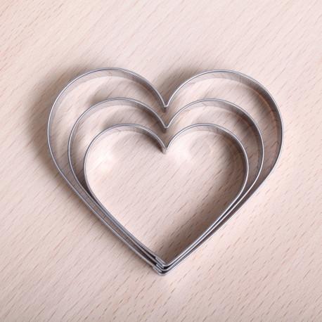 Koekjes uitsteekset -  Set van 3 harten