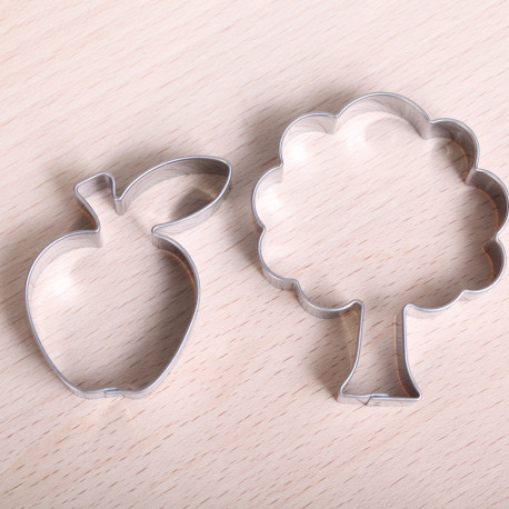 Cookie cutter set - Apple & Tree