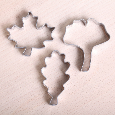 Cookie cutter set- Autumn Leaves
