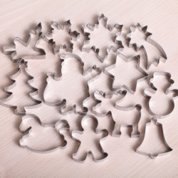 Cookie cutter set- Santa's big cookie christmas