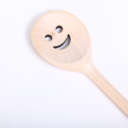 Wooden Spoon smiley face