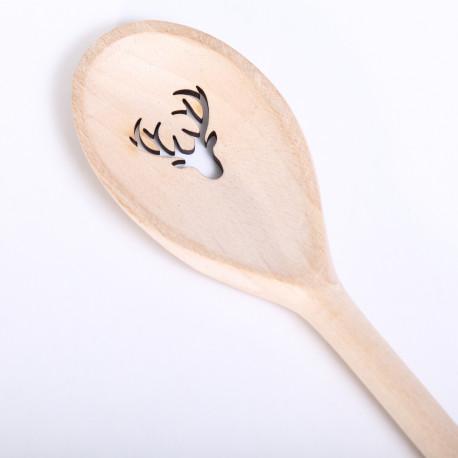 Wooden Spoon with Reindeer