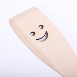 Wooden spatula with Apple