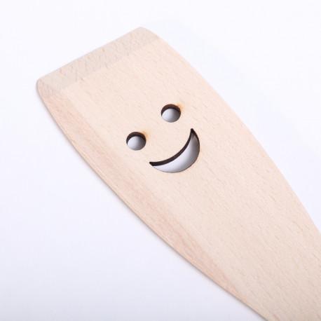 Houten roerspatel met Smiley