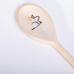Wooden Spoon with Snail