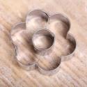 Koekjes uitsteekvormpje -  Bloem met hart 5cm