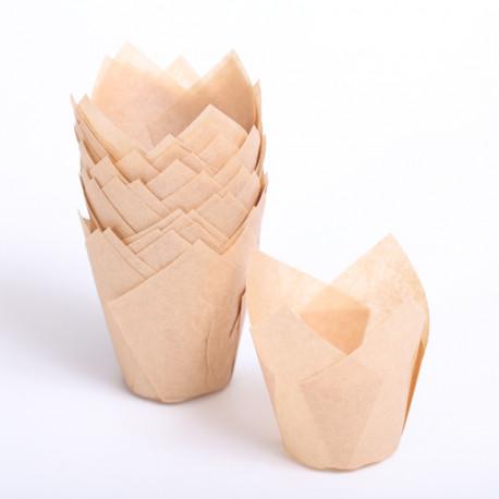 Tulip muffin cups natural / sand MINI