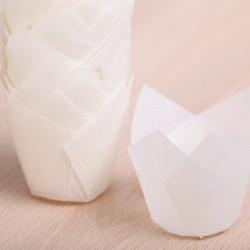 Tulip muffin cups natural / snow white MINI