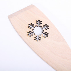 Wooden spatula with Snowflake