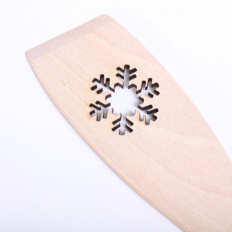 Houten roerspatel met Sneeuwvlok